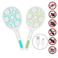 Rechargeable Electric Fly Insect Racket Zapper Killer Swatter Bug Mosquito AXR