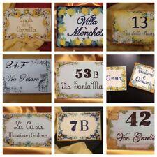 Numeri Civici Numero Civico in Ceramica con Fiori 15*20 cm fantasia a scelta