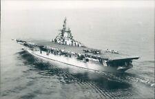 Postcard Sized Photo American Essex Class Aircraft Carrier USS Princetown