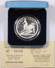 Ve République, Albertville, 100 francs slalomeur, 1992, BE, FDC - 4