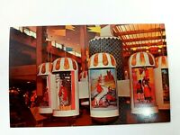 Vintage Postcard 1970's Clock of the Nations Midtown Plaza Mall Rochester NY