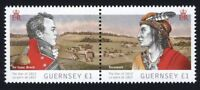 GB = GUERNSEY - 2012 Joint Issue with Canada = WAR of 1812 =Se-tenant pair