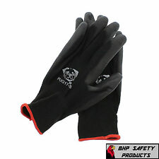 (12 PAIR) GLOBAL GLOVE PUG17-S POLYURETHANE COATED ANTI-STATIC WORK GLOVES SMALL