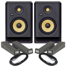 More details for krk rokit rp5 g4 pair active dj studio monitor speakers, isolation pads & cables