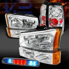 03-06 Silverado Chrome Head Bumper Lamps+LED 3rd Brake Light+Tail Lamps