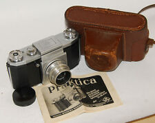 Praktica KW Vintage camera  Carl ZEISS JENA TESSAR 3.5/50mm  MANUAL Instruction