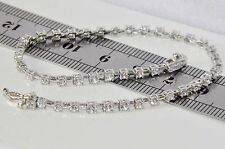 Beautiful Argento Sterling (925) 2.40ct Donna Bracciale Tennis