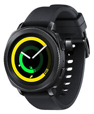 Samsung Gear Sport 44.6mm Black Case Silicone Band Classic Buckle -SM-R600NZKAR