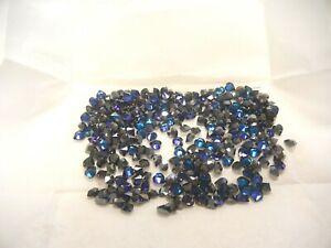 36 swarovski heart shape stones,6.6x6mm bermuda blue #4800