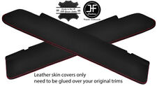 RED STITCH 2X REAL LEATHER SUN VISOR COVERS FITS FREIGHTLINER CASCADIA 08-17