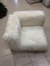 1 Pottery Barn Teen LOVESEAT Chair Furlicious Cushy lounge Furry Sofa Sectional