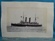 c1900s Large Format Albumen Photo Royal Navy HMS Blenheim Plus Cambridge & More