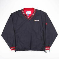 Vintage CHAMPION Black & Red Nylon Sports Pullover Sweatshirt Size Men's XL