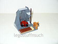 NEW LEGO Castle Village rock mountain bandit camping fire scene minifigure guard