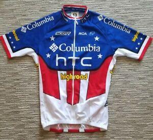 Columbia HTC Highroad US Natl Champion Jersey George Hincapie - Size Euro 6