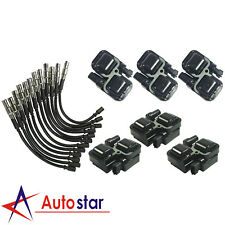 Ignition Spark Coils With Plug Wire Sets For Mercedes-Benz C CL CLK ML Class New