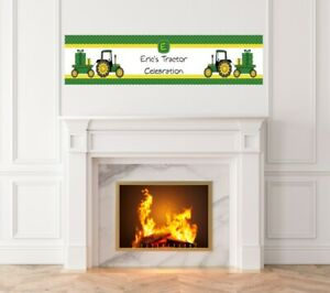Tractor Truck - Baby Shower Printed Banner - Indoor Outdoor Tractor Truck Banner