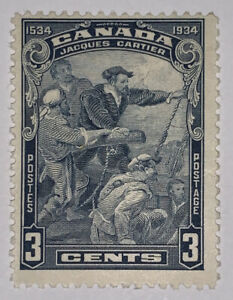 TRAVELSTAMPS: 1934 CANADA STAMPS SC #208 CARTIER'S ARRIVAL AT QUEBEC Mint OG H