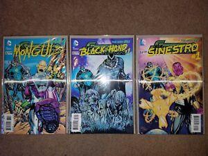 DC COMICS: GREEN LANTERN 23.2 - 23.4 NM LENTICULAR COVERS: SINESTRO, BLACK HAND