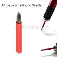 3D Rond 19 Aiguille Tatouage Sourcil Lame Maquillage Microblading Semi Permanent
