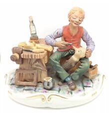 "Figura de Porcelana de Capodimonte Pinocho Geppeto italiana Porcellana 7.5"" 19cm"