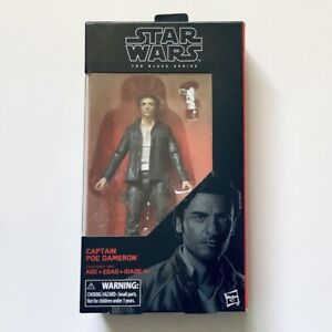 CAPTAIN POE DAMERON Star Wars The Black Series #53 The Last Jedi 2017 New MIB!!