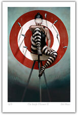 """Gill DEL-MACE """"The Knife Thrower"""" limited edition print signed by artist circus"""