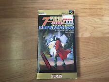 Super Fire Pro Wrestling III Super Famicom NTSC-J Japan Import