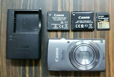 Canon PowerShot ELPH 160 Digital Camera w/ Charger, 2 Batteries & 32GB SD Card