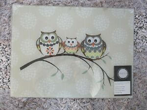IMPRESS HOOTS OWL GLASS WORK TOP SAVER CHOPPING BOARD NEW SEALED