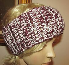 Headband Ear Warmers Messy Bun Wrap Crochet Handmade in USA