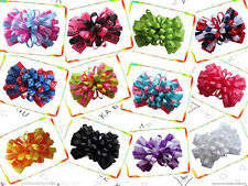 "12 BLESSING Happy Girl Boutique Hair Accessories 4"" Fireworks Hair Bow Clip"