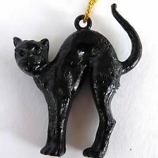 Black Cat Wine Charm Hang Tag Zeller Schwarze Katz Plastic Multiples 1960's Vtg