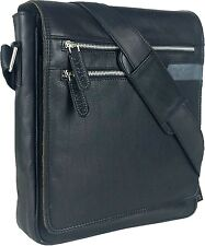 UNICORN Real Leather iPad, Kindle, Tablets & Accessories Messenger Bag Black #3G