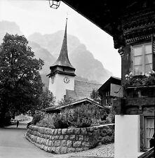 SUISSE c. 1959 - Chalet  Église Gstaad - Négatif 6 x 6 - Sui 132