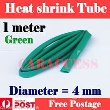 Heat Shrink tube Heatshrink tubing Sleeving green Dia=4mm 1meter  AU STOCK