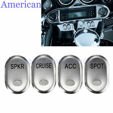 Chrome Brushed Rocker Panel Switch Cover For Harley-Davidson Touring FLHT 96-13