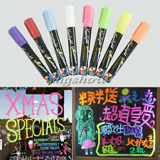 8 Colours Dual Nib 6mm Neon Liquid Chalk Pen Marker Blackboard Glass Window Menu