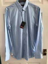 BNWT Ben Sherman luz azul algodón manga larga para hombre de Superdry talla 3xl (XXXL) Slim