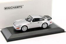 Porsche 911 (964) Turbo année de construction 1990 argent métallique 1:43 Mini