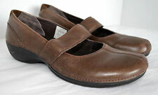 MERRELL Ortholite Brio Womens 9 Olive Brown Leather Mary Jane Casual Shoe Loafer