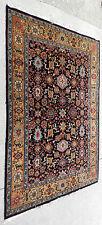 Vintage Persian Oriental Carpet Rug 9x7 Black Tan Tribal