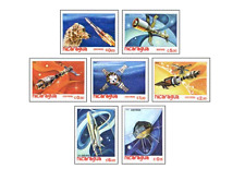 NIC8206 Dog Laika in space 7 stamps