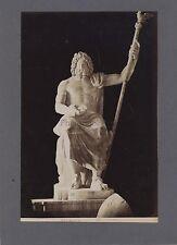 Sculpture gréco-romaine Zeus Faustina Grèce Italie 2 Photos Vintage albumine