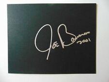 """Guitar Legend"" Joe Bonamassa Hand Signed 8X10 Cardstock Todd Mueller COA"