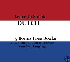 CD - LEARN to SPEAK - DUTCH + 5 Free eBooks - Resell Rights