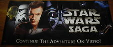 "Star Wars Double Sided Official Movie Video / DVD Release Vinyl Banner 36""x80"""
