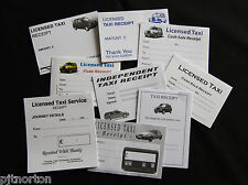 Blank taxi receipts expenses - 9 designs, 45 reciepts in total - free shipping!