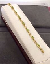 Beautiful 14K Yellow Gold Ladies Bracelet With Peridot