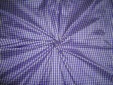 Purple & Ivory COLOUR PLAIDS~SILK DUPIONI FABRIC~WIDTH 54